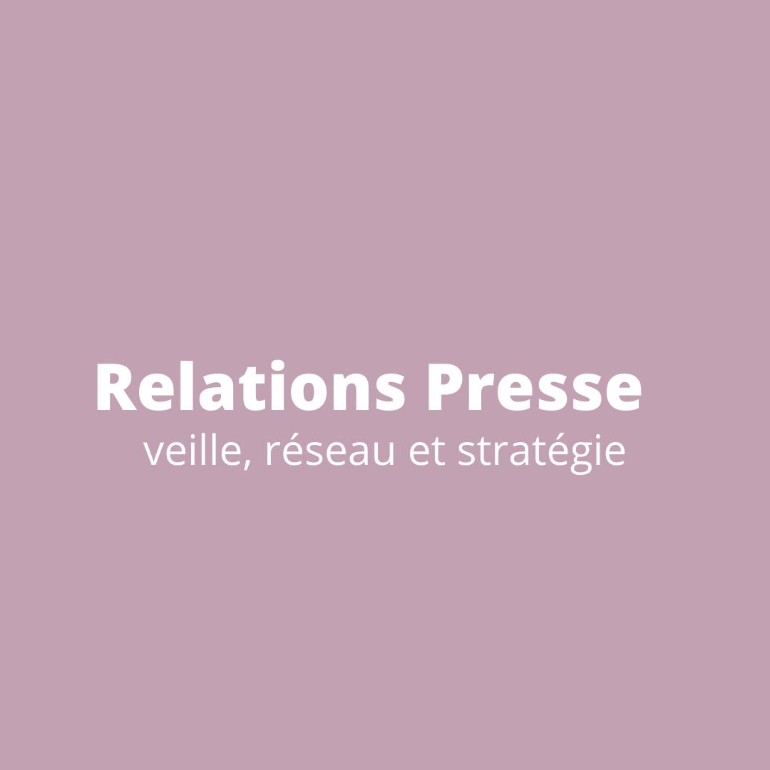 Catégorie Relations presse